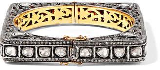 Amrapali 18-karat Gold And Sterling Silver Diamond Bracelet