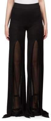 Balmain Front-Slit Flared Pants