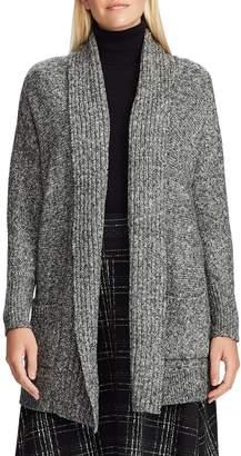 Chaps Petite Open-Front Cotton-Blend Cardigan