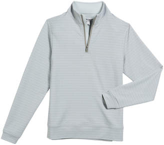 Stretch Terry Golf Tee-Print Half-Zip Top, Size XS-XL