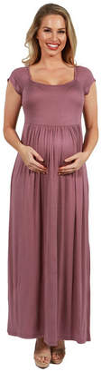 24/7 Comfort Apparel Cool Drink of Water Maternity Dress - Plus