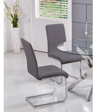 Best Master Furniture's Mirage Faux-Leather Dining Chairs (Set of 2)
