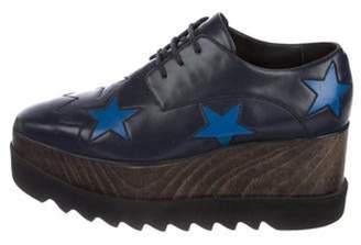 Stella McCartney Vegan Leather Platform Oxfords Black Vegan Leather Platform Oxfords