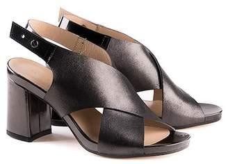 Formentini Perla Ilaria Leather Block Heel Sandal