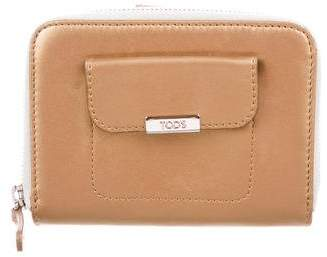 Tod's Metallic Leather Compact Wallet