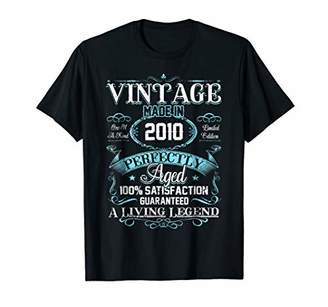 Vintage Made In 2010 T-Shirt 8th Birthday Living Legend