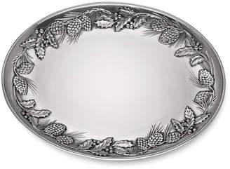Lenox Metal Pinecone Holly Platter