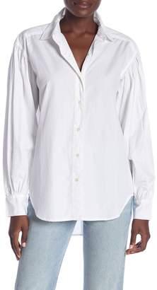 Frame Blouson Sleeve Poplin Shirt