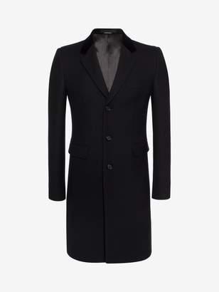 Alexander McQueen Silk Wool Fitted Coat