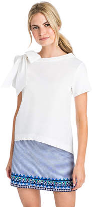 Vineyard Vines Short-Sleeve Bow Neck Top