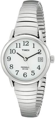 Timex Women's Easy Reader Silver-Tone Expansion Band Watch #T2H371