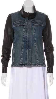 Helmut Lang Leather-Trimmed Jacket