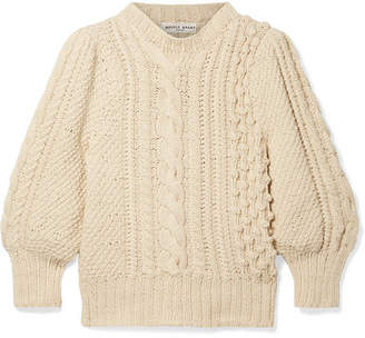 Apiece Apart Ermita Cable-knit Cotton Sweater - Cream