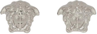 Versace Silver Medusa Stud Earrings