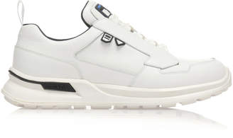 Prada Lace-Up White Work Sneakers