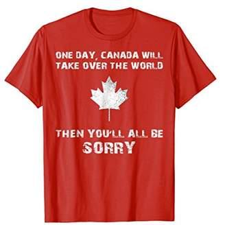 DAY Birger et Mikkelsen Funny Canada Shirt - Canada Take Over The World Joke Tee