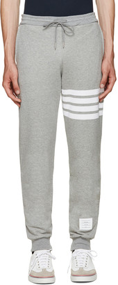 Thom Browne Grey Classic 4 Bar Lounge Pants $570 thestylecure.com