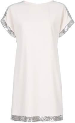 Dorothy Perkins Womens Blush Embellished Shoulder Shift Dress