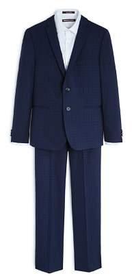 Michael Kors Boys' Plaid Skinny Suit Jacket & Pants Set - Big Kid
