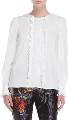 P.A.R.O.S.H. White Ruffled Shirt