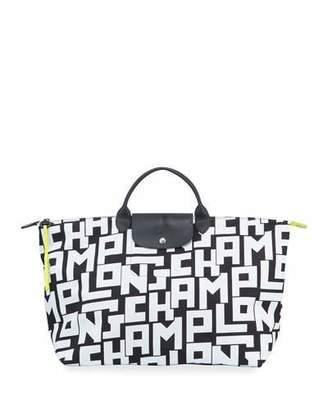Longchamp Le Pliage LGP XL Logo-Print Travel Tote Bag