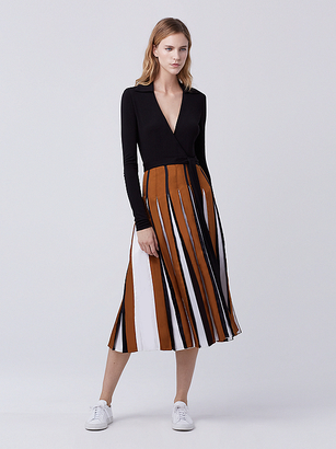 Stevie Two Pleated Wrap Dress $598 thestylecure.com