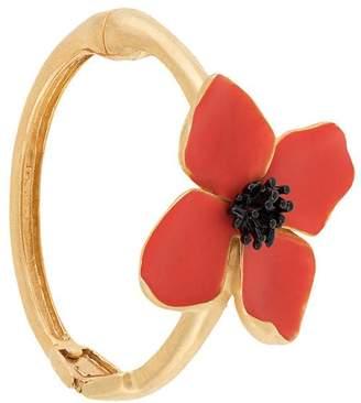 Oscar de la Renta painted flower bracelet