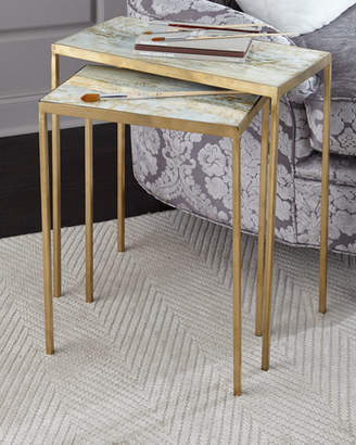 John-Richard Collection Austin Allen James by Lustrous Sky Nesting Tables