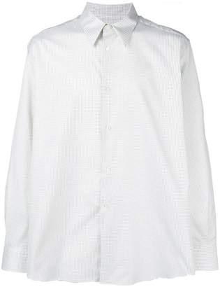 Raf Simons oversized check print shirt