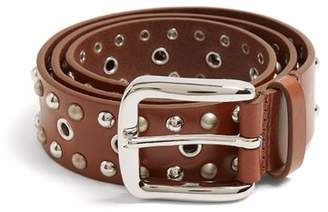 Isabel Marant - Rica Stud Embellished Leather Belt - Womens - Brown