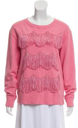 Marc Jacobs Fringed Crew Neck Sweatshirt