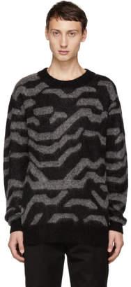 Tiger of Sweden Black and Grey Nocks Crewneck Sweater