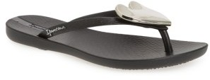 Women's Ipanema Wave Heart Flip Flop $25.95 thestylecure.com