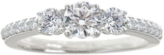 Affinity Diamond Jewelry 3-Stone Diamond Ring w/ Pave Accents, 1.00 cttwby Affinity