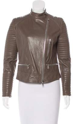 Eleventy Leather Moto Jacket