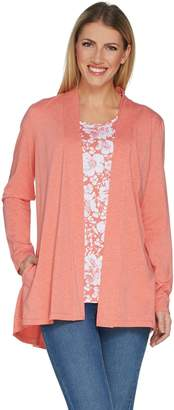 Susan Graver Weekend Cotton Modal Cardigan and Tank Set