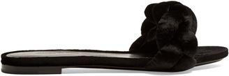 MARCO DE VINCENZO Plaited velvet slides $442 thestylecure.com