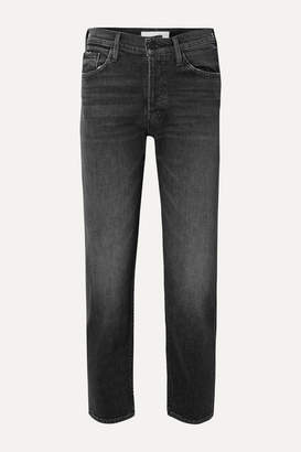 Mother The Tomcat Ankle High-rise Straight-leg Jeans - Black