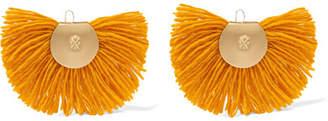 Katerina Makriyianni - Hand Fan Gold-tone Wool Earrings
