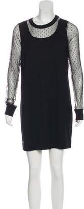 See by Chloe Wool Long Sleeve Dress