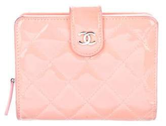 Chanel Patent Quilted French Purse