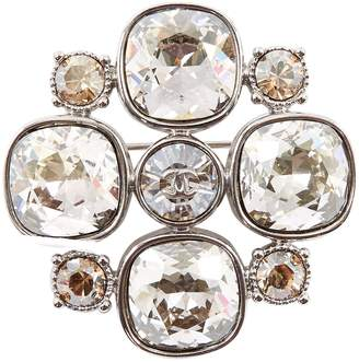Chanel Silver Crystal Pins & brooches