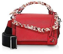 Botkier Women's Cobbie Hill Fringe-Trim Leather & Canvas Crossbody Bag