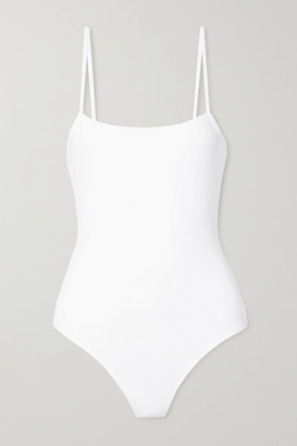 ATM Anthony Thomas Melillo Stretch Pima-cotton Jersey Thong Bodysuit - White