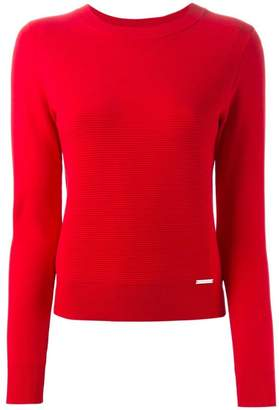 MICHAEL Michael Kors ribbed knit panel sweater