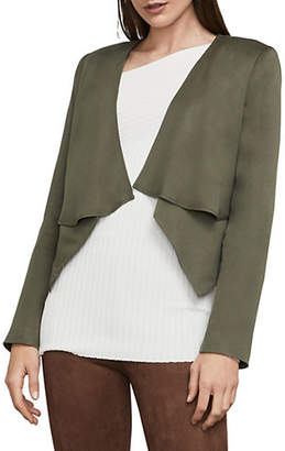 BCBGMAXAZRIA Ania Double-Layer Cropped Jacket