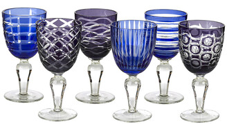 Pols Potten Wine Glass Cobalt - Set of 6