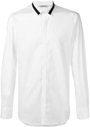 Neil Barrett contrast trim collar shirt