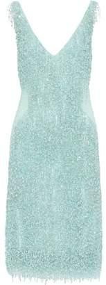 Naeem Khan Embellished Jersey Dress