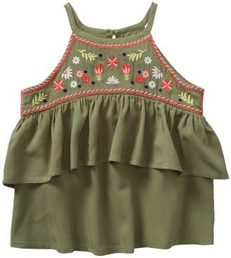 Crazy 8 Crazy8 Embroidered Ruffle Top